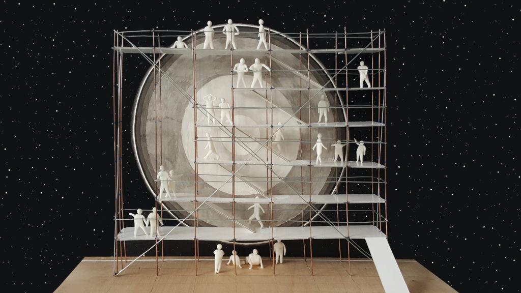 Caspar Noyons Maquette voor een nieuwe aarde